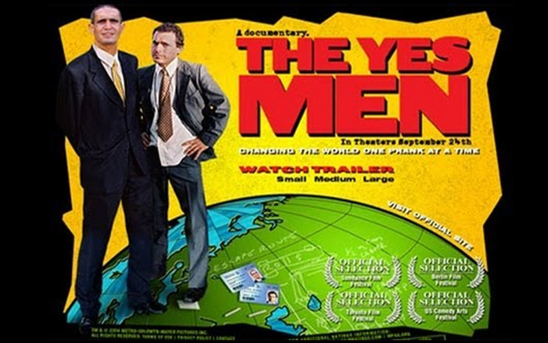 Caratula de The Yes Men.